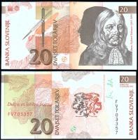 Банкнота Словении 20 толар 1992 года