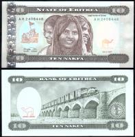 Банкнота Эритреи 10 накфа 1997 года