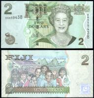 Банкнота Фиджи 2 доллара 2011 года