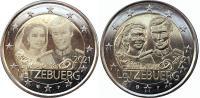 Люксембург 2 евро 2021 Свадьба Анри и Марии Терезы (2 монеты)