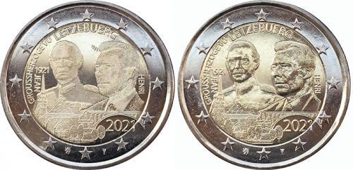 2 евро 2021 Герцог Жан