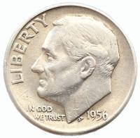 США 1 дайм (10 центов) 1956 года