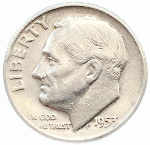 США 1 дайм (10 центов) 1953 года