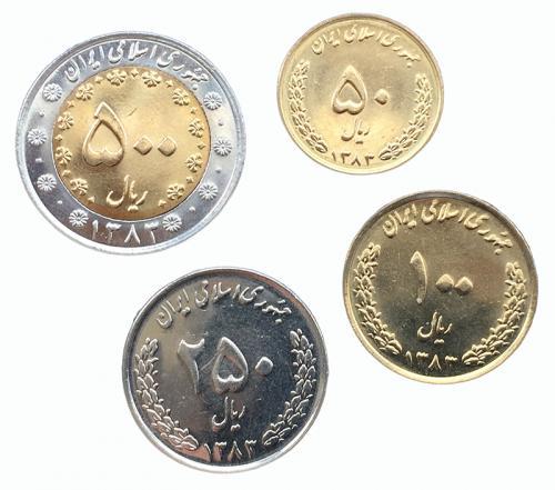 Иран Набор Монет 2003-2006 года 4 монеты
