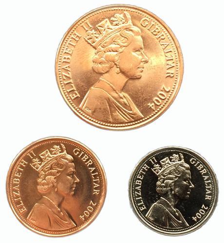 Гибралтар Набор Монет 2004 года 3 монеты