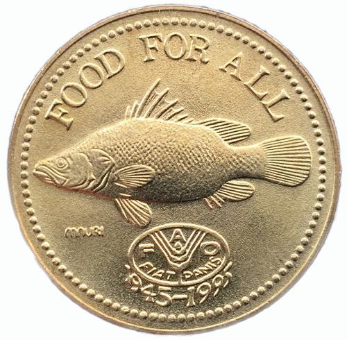 Монета Уганды 200 шиллингов 1995 года Рыба