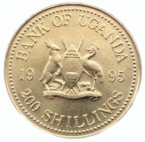 Уганда 200 шиллингов 1995 года Рыба