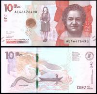 Колумбия 10000 песо 2017 года