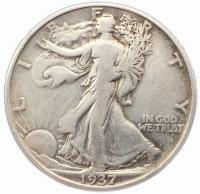 США 50 центов 1937 года