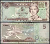 Банкнота Фиджи 5 долларов 2011 года