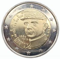 Словакия 2 евро 2019 Милан Штефаник