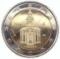 Германия 2 Евро 2015 Федеральная Земля Гессен