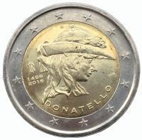 Италия 2 евро 2016 Донателло