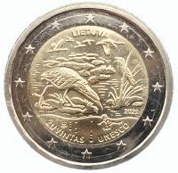 Монеты Литвы 2 евро 2021 Заповедник Жувинтас
