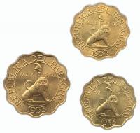 Парагвай Набор Монет 1953 года 3 монеты