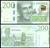 Банкнота Швеции 200 крон 2015 года