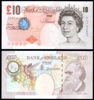 Банкнота Англии 10 фунтов 2004 года