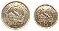 Уганда Набор Монет 1976 года 2 штуки