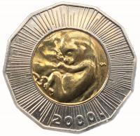 Хорватия 25 кун 2000 года Тысячелетие