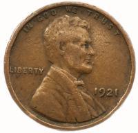 США 1 цент 1941 года Линкольн