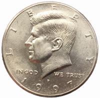 США 50 центов 1997 года Кеннеди