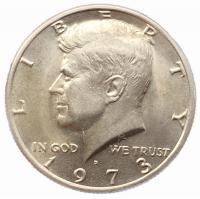 США 50 центов 1973 года Кеннеди