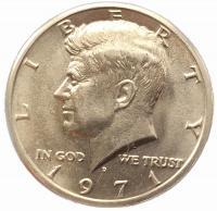 США 50 центов 1971 года Кеннеди