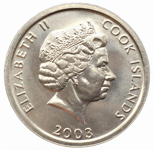 Острова Кука 1 цент 2003 года Колли