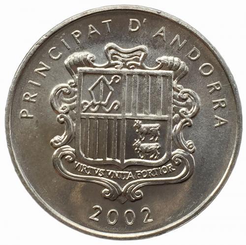 Андорра 1 сантим 2002 года Пиренейская Серна