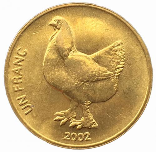 Конго 1 франк 2002 года Петух