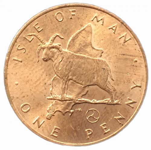 Остров Мэн 1 пенни 1979 года
