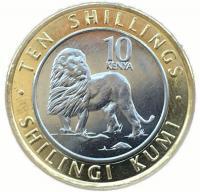 Кения 10 шиллингов 2018 года