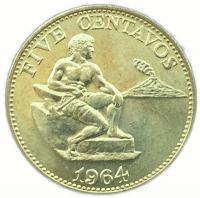 Филиппины 5 сентаво 1964 года