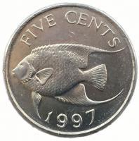 Бермудские Острова 5 центов 1997 года
