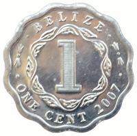 Белиз 1 цент 2007 года