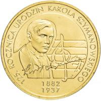 Польша 2 злотых 2007 125 лет Каролю Шимановскому