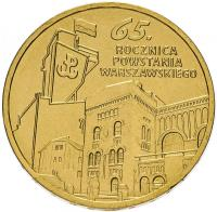 Польша 2 злотых 2009 65 лет Варшавскому Восстанию