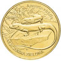 Польша 2 злотых 2009 Ящерица