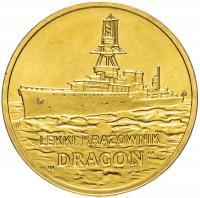 Польша 2 злотых 2012 Крейсер Дракон