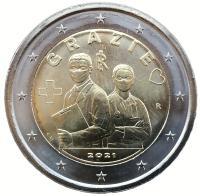 Италия 2 евро 2021 Спасибо Врачам