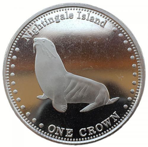 Тристан-да-Кунья 1 крона 2011 Морской Котик