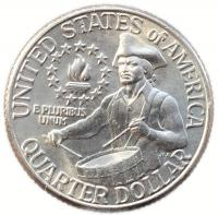 США 25 центов США 1976 200 лет независимости Америке Барабанщик