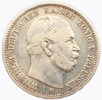 Германия Пруссия 2 марки 1877 года Вильгельм