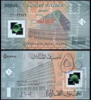 Ливан 50000 ливров 2014 года 50 лет Банка
