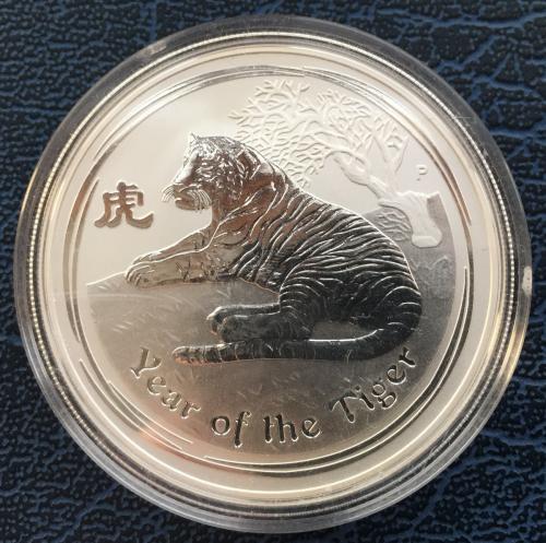 монета год тигра
