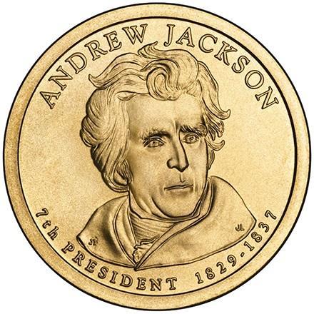 США 1 Доллар 2008 Эндрю Джексон 7-й Президент